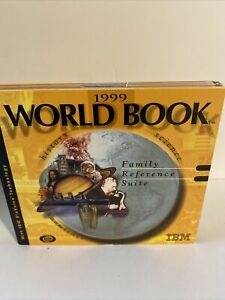 1999 World Book Family Reference Suite IBM CD ROM History Science Knowledge