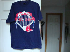 New~Boston Red Sox Mlb Baseball Men's 100% cotton graphic tee t-shirt Blue~Nwot