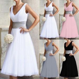 Damen Hochzeit Brautjungfer Kleid Party Abendkleid Brautkleid Ballkleid Cocktail