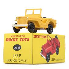 Atlas 1:43 DINKY Toys Antique 24M JEEP Metal Car Model ALLOY DIECAST CAR MODEL