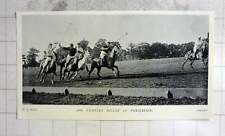 1905 Polo Match, Mr Charles Miller In Possession
