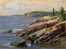 John Stobart Print - Bar Harbor: At the Edge of Acadia National Park