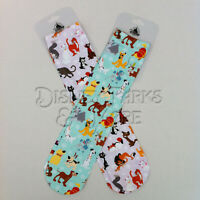 Disney Parks Dogs and Cats of Disney Socks Set Stitch Pluto Simba Figaro- ADULT