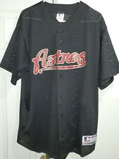 Majestic Men's Replica Houston Astros Black MLB Jersey XL
