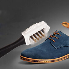 Durable Black S Shape Boot Shoes Cleaner 3 Side Shoe Cleaning Brush Suede Nubuck
