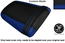 R BLUE & BLACK VINYL CUSTOM FOR HONDA CBR 600 RR5 RR6 05-06 REAR SEAT COVER ONLY