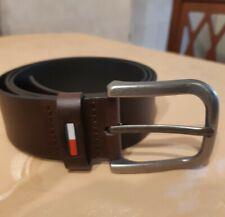 Tommy HILFIGER NEW Denton BELT 4.0 w105 Accessorio Cintura Dark Tan Marrone Nuovo