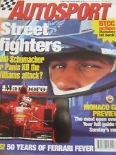 AUTOSPORT MAGAZINE MAY 1997 SCHUMACHER PANIS MONACO GP FERRARI FEVER BRUNDLE