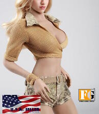 """1/6 Summer Tactical Military Outfits Set 12"""" For Phicen Hot Toys Female Figure"""