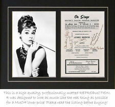 Audrey Hepburn Gigi cast signed theater program autographs PROFESSIONALLY MATTED