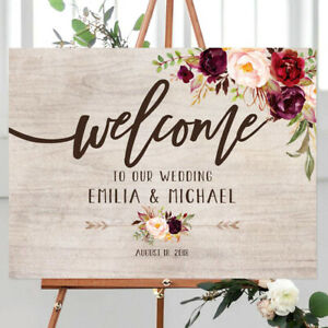 Personalize wood Entrance Sign Welcome Wedding Sign Welcome to Our Wedding