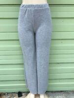 NEW ZARA GRAY SOFT-TOUCH TROUSERS TRF Elastic High Waist Size SMALL B1081