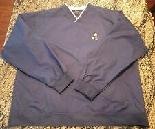 Mickey Mouse Navy Blue Wind Shirt Pockets Windbreaker Pullover XL Golf Disney