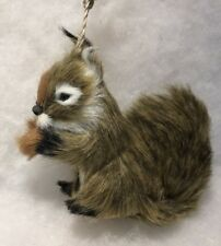 Squirrel Woodland Animal Christmas Tree Ornament Faux fur