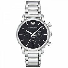 Emporio Armani Classic AR1853 Black/Silver Stainless Steel Quartz Men's Watch