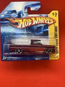 Hot Wheels Custom 62 Chevy 2008 First Editions VHTF SHORT CARD WITH SURF BOARD