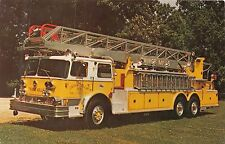 OWINGS MILLS MARYLAND 1973 IMPERIAL GROVE 100' AERIAL LADDER FIRETRUCK POSTCARD