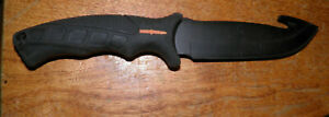 Camillus gut hook titanium knife good solid fixed blade Rubber Handle buy it now