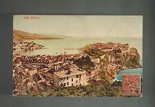 1908 Monte Carlo Monaco Cover Postcard to Argentina