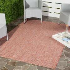 New Safavieh Courtyard Red Beige 7'x10' Water resistant Indoor Outdoor Area Rug