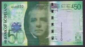 2007 AA pfx. Bank of Scotland 'FALKIRK WHEEL' £50 - Stevenson / Matthew - aUNC