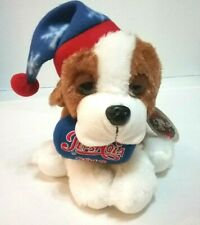 "Holiday Plush 8"" Droopy Eyed St. Bernard Pepsi Cola 2013 Logo Embroidered"