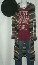 Sweet Claire Just A Small Town Girl Journey Lyrics Music Festival Boho Tunic Tee
