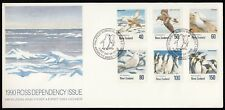 Ross Dependency 1990 FDC Antarctic Birds - Set of 6