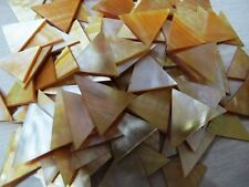 TRIANGLE MOP  Seahells  1 inch TRIANGLE shape  plate /chips  wow!!!