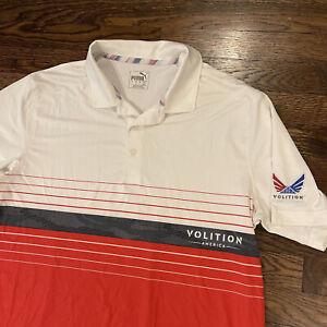 Puma Mens Medium Volition America Golf Polo Shirt