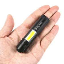 Mini Flashlight 2000 Lumen CREE Q5 LED+COB LED Torch Lamp Penlight AA/14500
