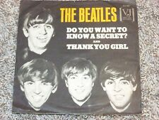 "THE BEATLES ""DO YOU WANT TO KNOW A SECRET"" VJ 7"" W P/S"