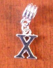 Pendentif argentée lettre X
