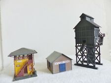 Lot of 3 Vintage HO Scale Train Buildings Station Coal Tower + Revell As IS Read
