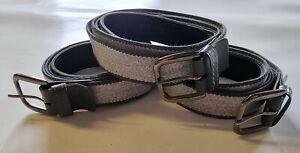 "3 x Mens GREY Elasticated Stretch Belt 1"" Wide - Fits Waist 36"" - 50"""
