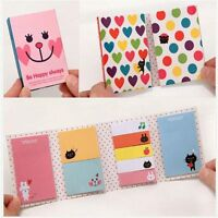4pcs Portable Lovely Sticker It Marker Sticky Flags Note Memo Bookmark Point Pad