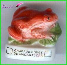 """Feve Les Grenouilles Frog Atlas """" Le Crapaud Rouge de Madagascar """"  #C27"""
