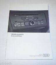 Betriebsanleitung / Instructieboekje Radio concert für Audi A1 / A 1, St.11/2010