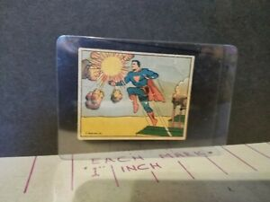 RARE VINTAGE 1940 Superman vs. The Spies Gum Trading Card #51