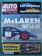 auto hebdo  1995 PORSCHE CARRERA CUP / ENDURANCE GT RICARD / BARRICHELLO /