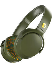 Skullcandy Riff Wireless Headphones in Moss/Olive/Yellow