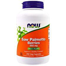 Now Foods, Saw Palmetto Berries, 550 mg, 250 Veggie Caps