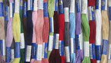 Fil à broder PERLE 10  - lot de 25 échevettes, grand teint,  coloris assortis