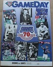 1994 Cleveland Browns New York Giants Program FN Testaverde Hampton