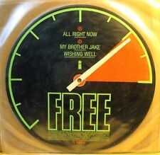 """FREE - ALL RIGHT NOW - Picture Disc - 12"""" 3 tracks - Mint Unplayed"""
