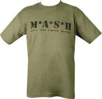 Military Printed MASH T Shirt Olive Green PARA SAS TA