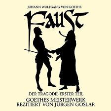 CD Goethe Faust Der Tragödie erster Teil, gesprochen von Jürgen Goslar 2CDs