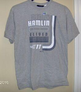 Denny Hamlin # 11 Youth T-Shirts Gray T- Shirt