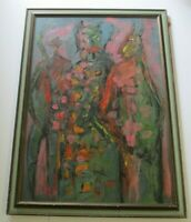 JAIME OATES PAINTING CALIFORNIA ABSTRACT MODERNISM LARGE OIL 1970 EXPRESSIONIST