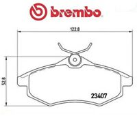 P61074 Kit pastiglie freno, Freno a disco (MARCA-BREMBO)